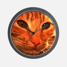 'Clyde the Ginger Cat' Wall Clock