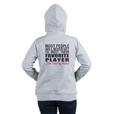 Football Mom front #2 Women's Hooded Sweatshirt
