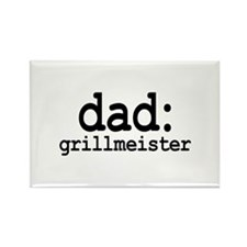 dad: grill meister Rectangle Magnet