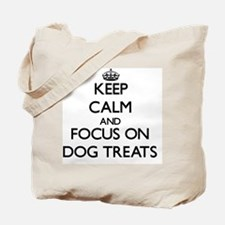 Keep Calm by focusing on Dog Treats Tote Bag
