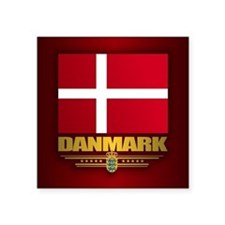 "Dannebrog Square Sticker 3"" x 3"""