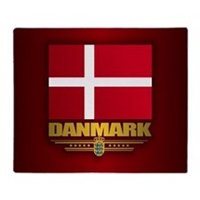 Dannebrog Throw Blanket