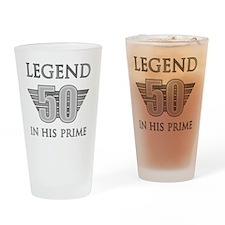 50th Birthday Legend Drinking Glass