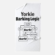 Yorkie Logic Beach Towel
