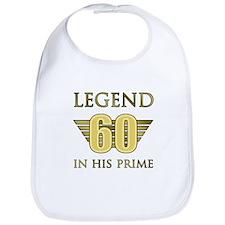 60th Birthday Legend Bib