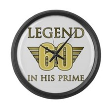 60th Birthday Legend Large Wall Clock