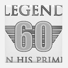 60th Birthday Legend Tile Coaster