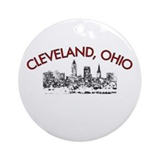 Cleveland, Ohio Ornament (Round)