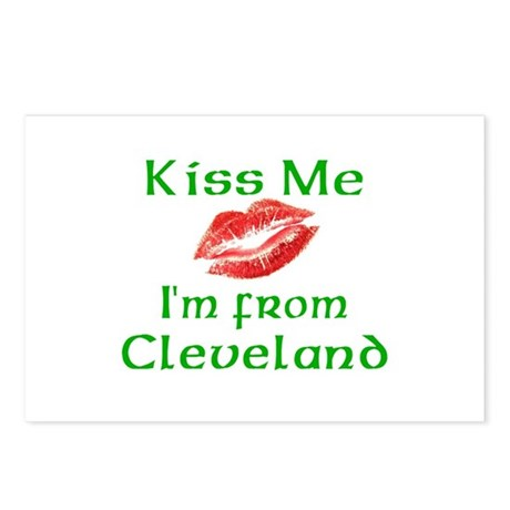 Kiss Me I'm from Cleveland Postcards (Package of 8