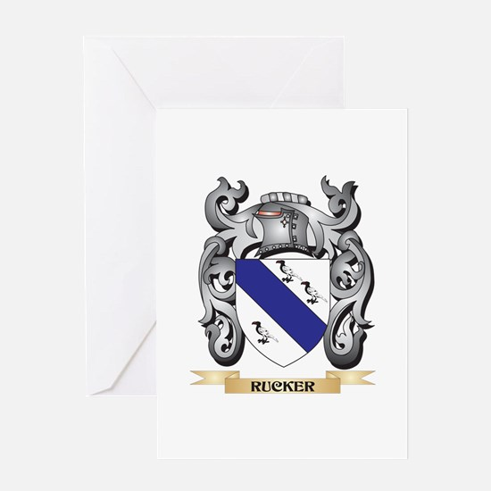 Rucker Coat of Arms - Family Crest Greeting Cards