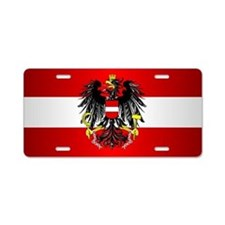 Austrian Flag Aluminum License Plate