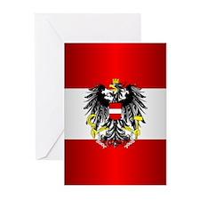 Austrian Flag Greeting Cards