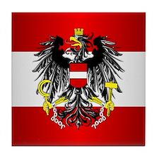 Austrian Flag Tile Coaster