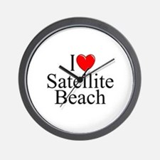 """I Love Satellite Beach"" Wall Clock"