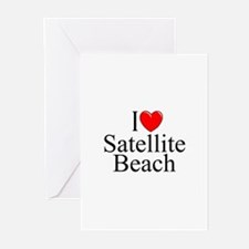 """I Love Satellite Beach"" Greeting Cards (Package o"