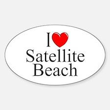 """I Love Satellite Beach"" Oval Decal"