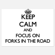 Keep Calm by focusing on Forks In The Invitations