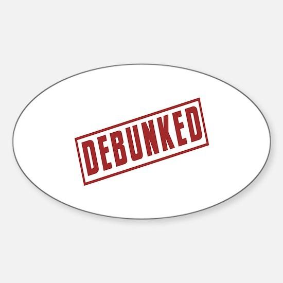 Debunked Red Ink Stamp Sticker (Oval)