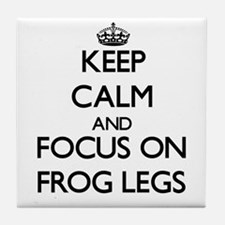 Keep Calm by focusing on Frog Legs Tile Coaster
