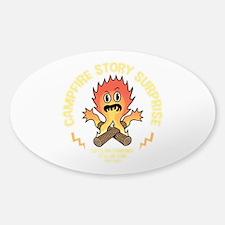 Campfire Surprise Sticker (Oval)