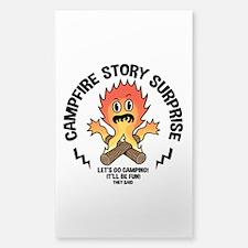 Campfire Surprise Sticker (Rectangle)