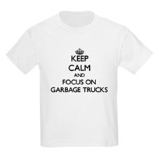 Keep Calm by focusing on Garbage Trucks T-Shirt