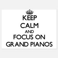 Keep Calm by focusing on Grand Pianos Invitations