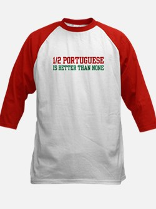 Half Portuguese Kids Baseball Jersey