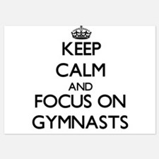 Keep Calm by focusing on Gymnasts Invitations