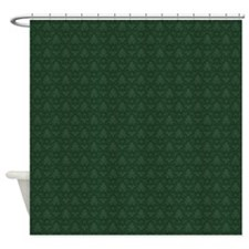 Green Fleur-De-Lis Pattern Shower Curtain