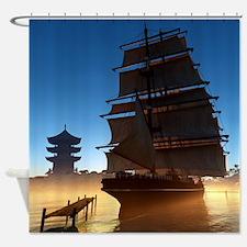 Asian Tall Ship Shower Curtain