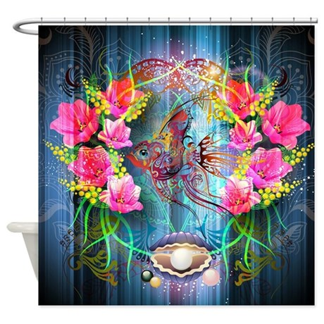 Colorful Collage Shower Curtain By FantasyArtDesigns