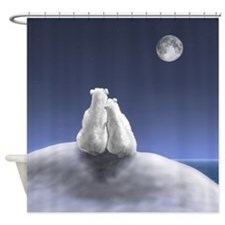 Polar Bears By Moonlight Shower Curtain