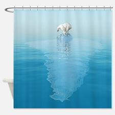 Polar Bear on Iceberg Shower Curtain