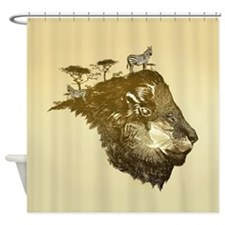 Lion Savanna Shower Curtain