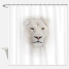 White Lion Head Shower Curtain