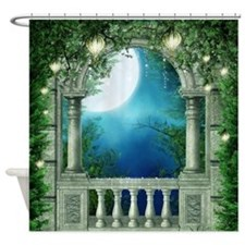Summer Night Balcony Shower Curtain
