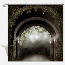 Gothic Arch Balcony Shower Curtain