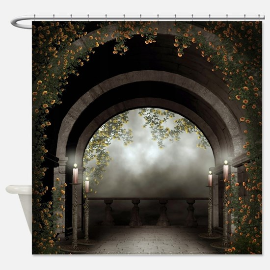 Gothic Arch Balcony Shower Curtain