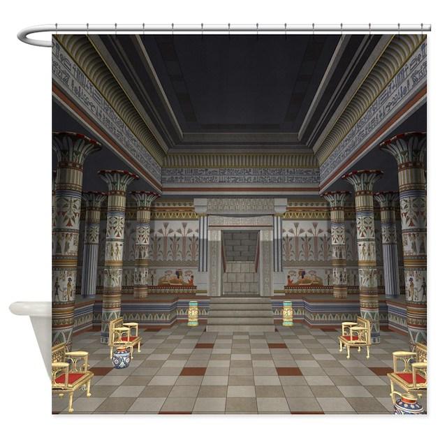Ancient Egyptian Hall Shower Curtain by FantasyArtDesigns