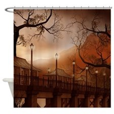 Asian Bridge Shower Curtain