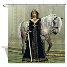 Medieval Lady and Horse Shower Curtain
