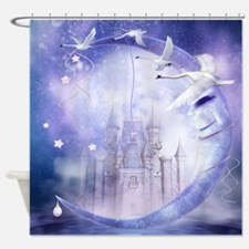 Fairytale Moon Castle Shower Curtain