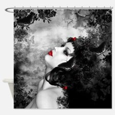 Black Rose Fantasy Shower Curtain