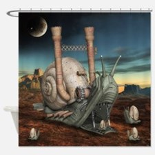 Surreal Steampunk Snail Shower Curtain