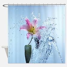 Water Lily Splash Shower Curtain