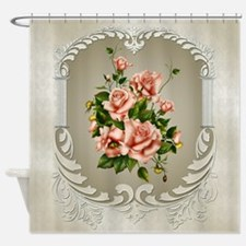 Victorian Roses Shower Curtain