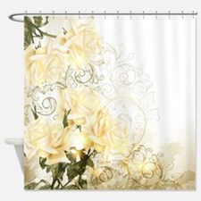 Artistic Yellow Roses Shower Curtain