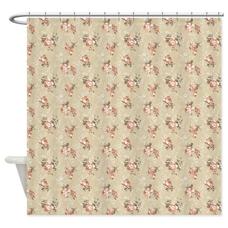 Victorian Rose Pattern Shower Curtain By FantasyArtDesigns