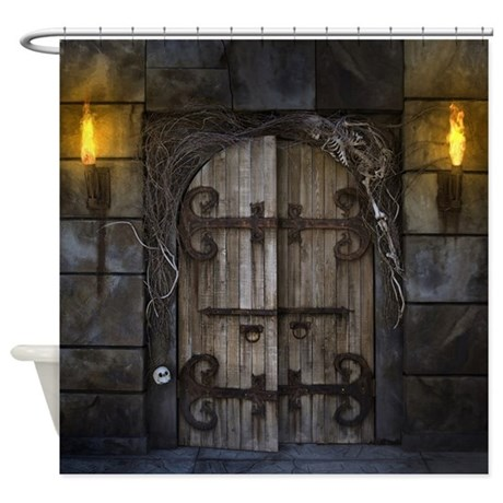 Gothic Spooky Door Shower Curtain By Fantasyartdesigns
